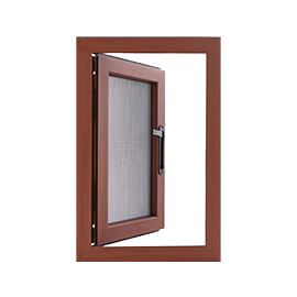 Casement window with Steel Mesh